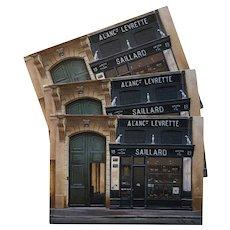 Saillard Maison Paris Storefront by French Painter André Renoux Unused Vintage Postcard