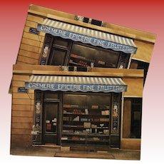 Gourmet Food Shop Paris Storefront by French Painter André Renoux