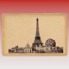 Eiffel Tower and Celestial Globe 1900 Paris Exposition Souvenir