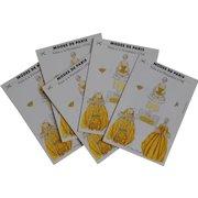 Vintage Modes de Paris Paper Doll Pompadour Golden Yellow Gown Postcard