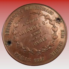 Amédée Thibout Iconic French Piano Maker Expo Award Medal circa 1880