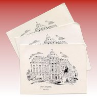 1969 Paris Wedding Party Invitation Menu French Officers Quarters