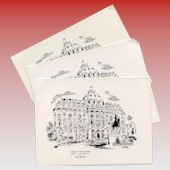 1969 Paris Wedding Party Invitation Menu French Officers Quarters