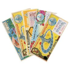 LAST CHANCE: 5 French National Lottery Tickets c 1970s Zodiac Astrology Signs