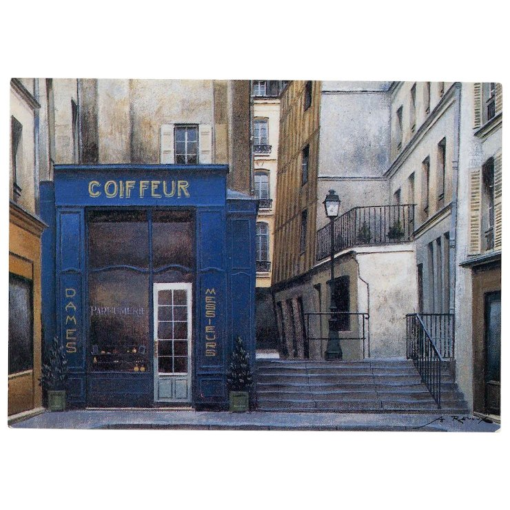 Paris Beauty Salon Coiffeur And Parfumerie By French Painter Andre