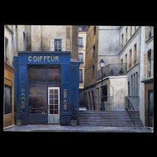Paris Beauty Salon Coiffeur and Parfumerie by French Painter André Renoux Unused Vintage Postcard
