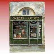 Couleurs pour Artistes Paris Storefront Vintage Postcard by Micheline Danon-Marcho
