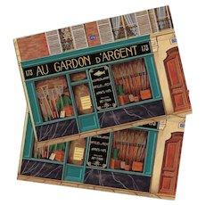 At the Silver Roach Fish Store Paris Par Les Peintres Postcard Artist Signed