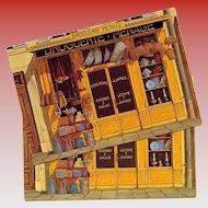 Home Goods Store Paris Par Les Peintres Vintage Postcard Artist Signed