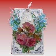3-D Popup Catholic Communion Souvenir Die-Cut Ribbon and Flowers