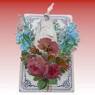 LAST CHANCE: 3-D Popup Catholic Communion Souvenir Die-Cut Ribbon and Flowers