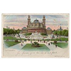 Hold to Light Paris Expo 1900 Souvenir of the Trocadero