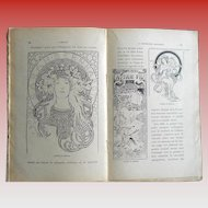 1937 French Book on Graphic Design of Posters from Art Nouveau to Art Deco: Mucha, Grasset, Cappiello