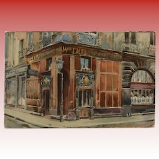 1926 Old Cabarets in Paris Series: At the Golden Shell Unused Postcard