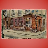 Au Petit Bacchus 1926 Old Cabarets in Paris Series Unused French Postcard