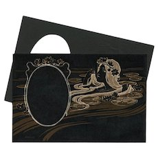 Art Nouveau Water Nymph Photo Frame for Postcard Printing