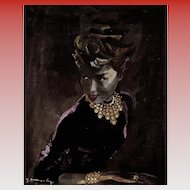 1948 Boucheron Jewelry French Magazine Advertisement Page