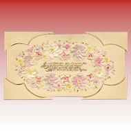 Handcrafted Cut Paper Floral Art French Love Note