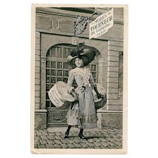 Women's Fashion Store Historical Advertising Postcard Modes Tourneur of Paris by Séeberger