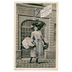 Women's Fashion Store Historical Advertising Postcard Modes Tourneur of Paris by Séeberger