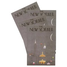 Iconic R.O. Blechman New Yorker Cover French Card 1981