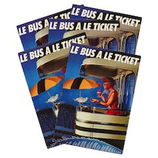 Paris Bus Advertising Campaign Postcard 1982