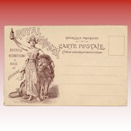 Royal Muscat Advertising Postcard with Coin Scratch Off Design Verso To Be Revealed