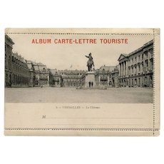 Carte-Lettre Versailles France Souvenir with Accordion Photo Strip