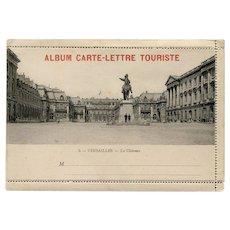 Carte-Lettre Versailles France Souvenir with Accordion Photo Strip