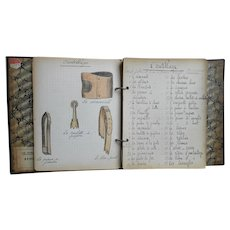 French Shoemaker's Education: Ringbinder of Hand-written Notes and Illustrations