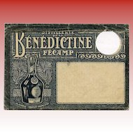 Illustrated Bénédictine Liqueur Distillery: Historical Philatelic Envelope with Circular Hole