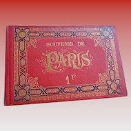 Pre-Eiffel Souvenir Paris Book with Accordion Pullout of Historical Monuments