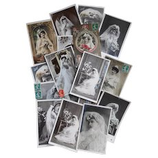 Huge Lot of 116 Antique Edwardian and Vintage Postcards for Wedding Decor and Favors