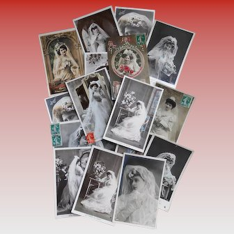 Huge Lot of 116 Antique Edwardian and Vintage Postcards for Wedding Decor and Favors