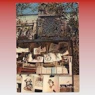 Albert Monier Photography Postcard of Bouquinistes near Notre Dame Paris 1950s