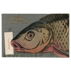 Souvenir Fish Rare French Novelty Postcard Unused