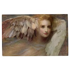 Thought Personified as Mythological Winged Creature Lapina of Paris Postcard