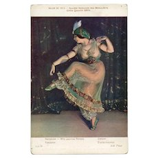 Dancer Jeanne Ronsay Risque Nude Exhibited at Salon de Paris 1913 Postcard