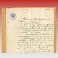 1931 Notarized Legal Contract French Script and Seals