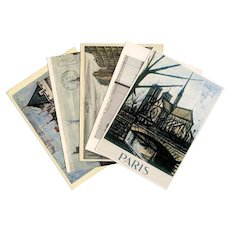 Bernard Buffet and Christo Collection of Vintage Postcards Paris Loire Pont Neuf