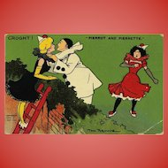 Pierrot Caught Kissing 1911 Postcard London to France