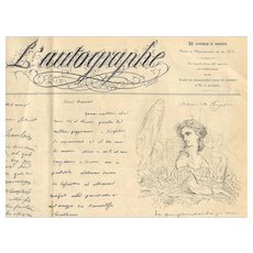 1864 L'Autographe Magazine Famous Signatures French Calligraphy Art and More