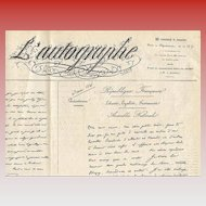 1864 L'Autographe Magazine Historical Signatures French Calligraphy and Art Sketches