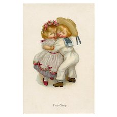 Two Step by Susan Beatrice Pearse Unused M.M. Vienne Antique Postcard