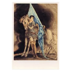 Joan of Arc by Louis Icart 1987 Art Reproduction Japanese Issue