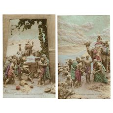 Joseph Old Testament Sculptochrome Postcards by Mastroianni 1913