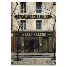 La Crémaillere 1900 Iconic Montmarte Restaurant by French Painter André Renoux Unused Vintage Postcard