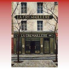 La Crémaillere 1900 Iconic Montmarte Restaurant by French Painter André Renoux Unused Vintage Postcard
