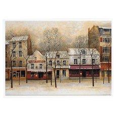 Montmartre Place du Tertre Artist Signed André Renoux Unused Vintage Postcard