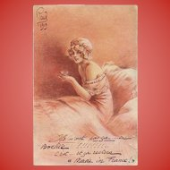 Eternal Feminine by Louis Icart Historical WWI 1919 Postcard